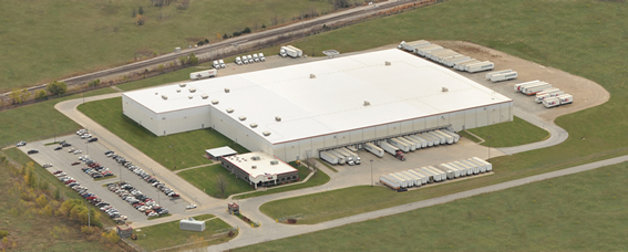 Aerial photo of Fort Scott VMC distribution center.